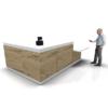 designer reception desk