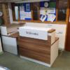 small reception desk