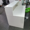 reception desk with panel end