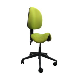 green saddle stool chair
