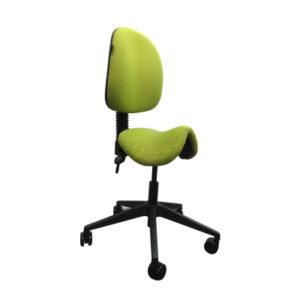 green saddle stool chair