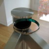 Optional Cable Port Hole in Glass Meeting Table