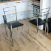 Clear Glass Home Desk