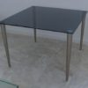 smoke grey glass meeting table