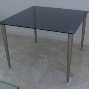 smoke grey glass meeting table