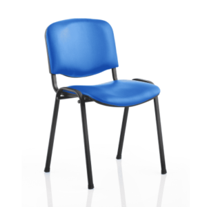Blue Vinyl Stacking Chairs