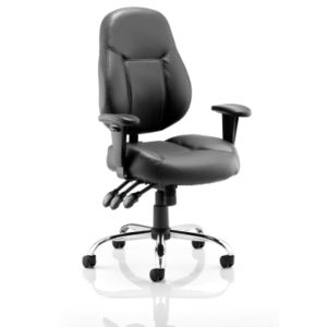 Black Wipe Clean Office Chairs with Arms