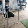 Clear Glass Table with Chair