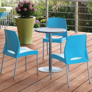 Blue Cafe Chairs and Tables