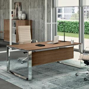 Mangers Desk with Chrome Leg Frame