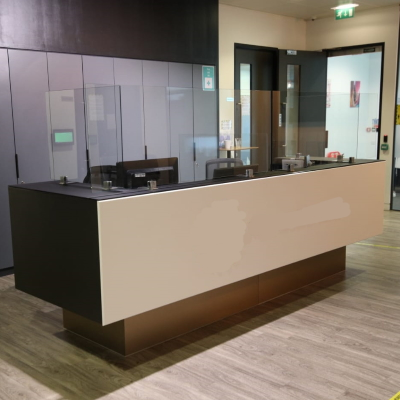 Modern Reception Desk with Protective Screens