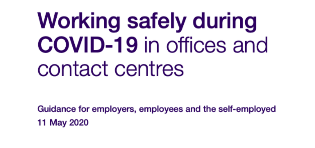 UK Government Covid19 office guidance