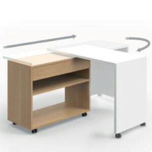 Compact desk that folds away