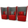 Group of 3 Single Seater Acoustic Sofas