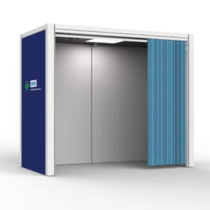 Vaccination Room with Privacy Curtain