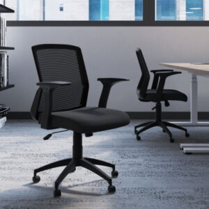 Mesh Chair Office with Black Mesh Back and Black Seat
