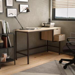 Home Office Desk UK in Light Oak