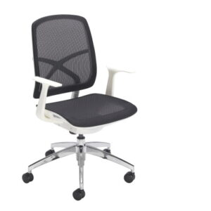 Mesh Seat and Back Office Chair with white frame