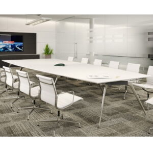 Large Modern Meeting Table with white top