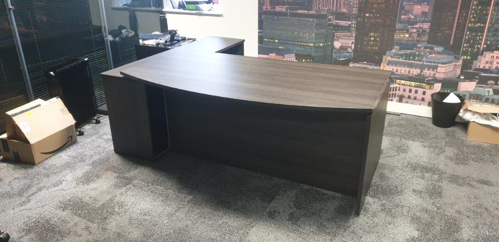 Executive office furniture (desk) produced for a Solutions 4 Office customer