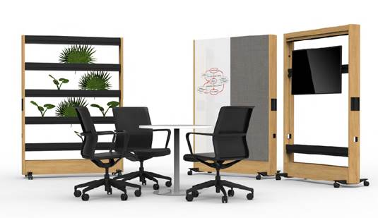 Example wall storage used for this south east of England office space planning project