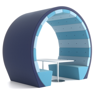 Office Pods with Seating and Table
