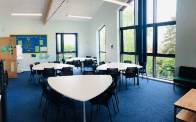 Plectrum meeting tables onsite at a Junior School - one happy customer